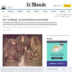 """Du """"trolling"""" au harcèlement morbide"""