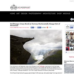 Trolltunga: Crazy Rock in Norway Horizontally Hangs Out of Mountain