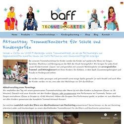 Trommelworkshops und Mitmachkonzert für Kinder