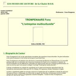 """TROMPENAARS F. : """"L'entreprise multiculturelle"""""""