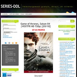 Le Trône De Fer Saison 01 VOSTFR HD