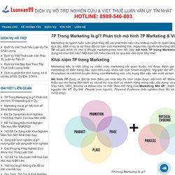 7P Trong Marketing là gì? Phân tích mô hình 7P Marketing & Ví Dụ