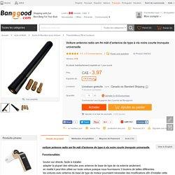 Voiture antenne radio am fm mât d'antenne de type à vis noire courte tronquée universelle Vente - Banggood.com