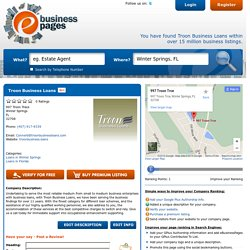 Business Financing Services in Florida