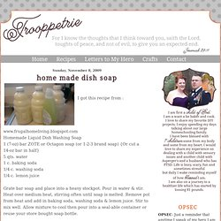 home made dish soap