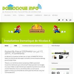 Trophée Domotique Info : Installation de Nicolas A