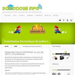 Trophée 2014 :Installation Domotique de Julien L