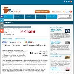 Le Cnam nommé aux trophées accessibilité 2013 | Événements