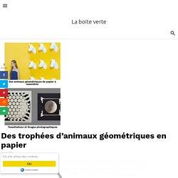 Des trophées d'animaux géométriques en papier