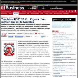 Trophées RSSI 2011 : Enjeux d'un métier aux mille facettes