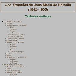 «Les Trophées» de José-Maria de Heredia