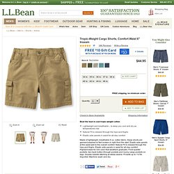 "Tropic-Weight Cargo Shorts, Comfort Waist, 6"" Inseam: Active"