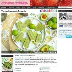 Tropical Avocado Popsicle - Vegan Recipe
