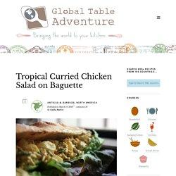 Baguette à la salade de poulet au curry tropical