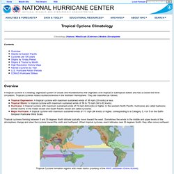 Tropical Cyclone Climatology