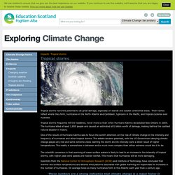 Tropical storms - Impacts - Exploring Climate Change