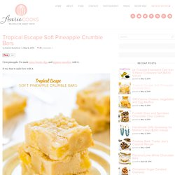 Tropical Escape Soft Pineapple Crumble Bars