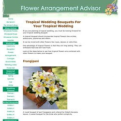 Tropical Wedding Bouquets - Tropical Wedding Theme