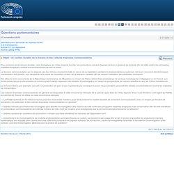 PARLEMENT EUROPEEN Réponse à question E-010296-12 Un soutien durable de la banane et des cultures tropicales communautaires