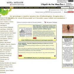 Gamme exclusive 100% Naturelle Anti-Maladies Tropicales, M.622 TROPICALIA, M.520 Anti-AMIBIASES