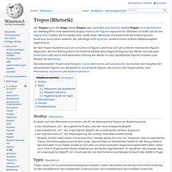 Tropus (Rhetorik)