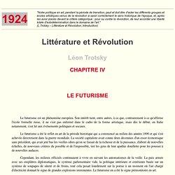 MIA - Léon Trotsky : Littérature et révolution (1924) – Chap.4