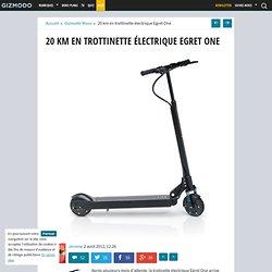 20 km en trottinette électrique Egret One