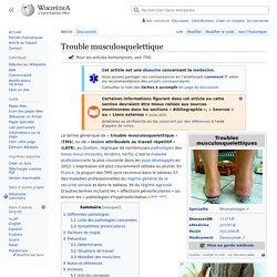 Trouble musculosquelettique
