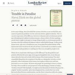 Slavoj Žižek · Trouble in Paradise: The Global Protest · LRB 18 July 2013