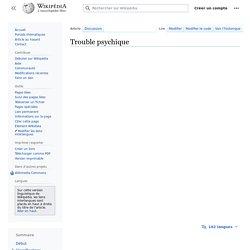 Trouble psychique