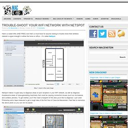 Trouble-shoot your WiFi network with NetSpot