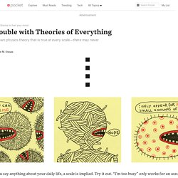 The Trouble with Theories of Everything - Nautilus - Pocket