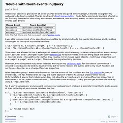 Xavi - Trouble with touch events in jQuery