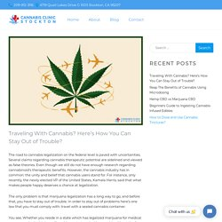 How to Stay Out of Trouble While Traveling With Cannabis?