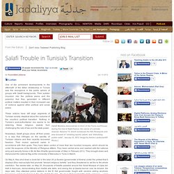 Salafi Trouble in Tunisia's Transition