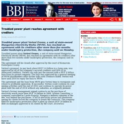 Troubled power plant reaches agreement with creditors _ Budapest Business Journal _ bbj.hu