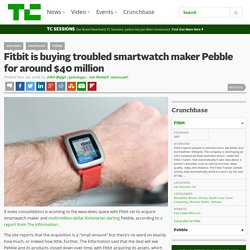 Fitbit is buying troubled smartwatch maker Pebble for around $40 million