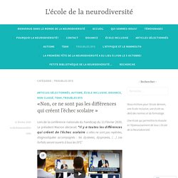 troubles dys – L'école de la neurodiversité
