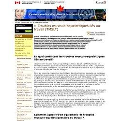 Réponses SST: Troubles musculo-squelettiques liés au travail (TMSLT)
