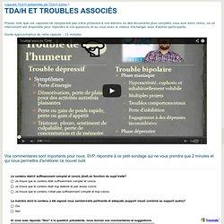 TDA/H ET TROUBLES ASSOCIÉS - tdahestrievideos