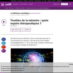 Troubles de la mémoire : quels espoirs thérapeutiques ?
