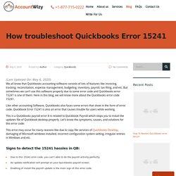 How to troubleshoot Quickbooks Error 15241 - Accountwizy
