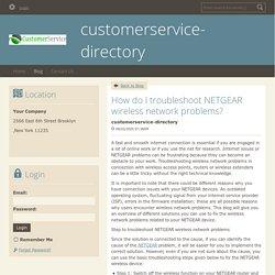 How do I troubleshoot NETGEAR wireless network problems?