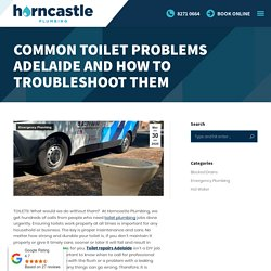 Common Toilet Problems Adelaide And How To Troubleshoot Them - Horncastle Plumbing