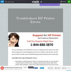 Troubleshoot HP Printer Errors