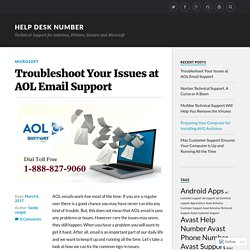 Troubleshoot Your Issues at AOL Email Support – Help Desk Number