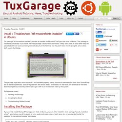 "Install / Troubleshoot ""ttf-mscorefonts-installer"" in Ubuntu  - TuxGarage"