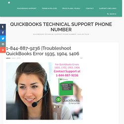 Troubleshoot QuickBooks Error 1935, 1904, 1406 - Quickbooks Technical Support Phone Number
