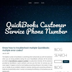 Know how to troubleshoot multiple QuickBooks multiple error codes?