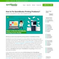 Resolve Printing Issues in QuickBooks [Updated Methods]
